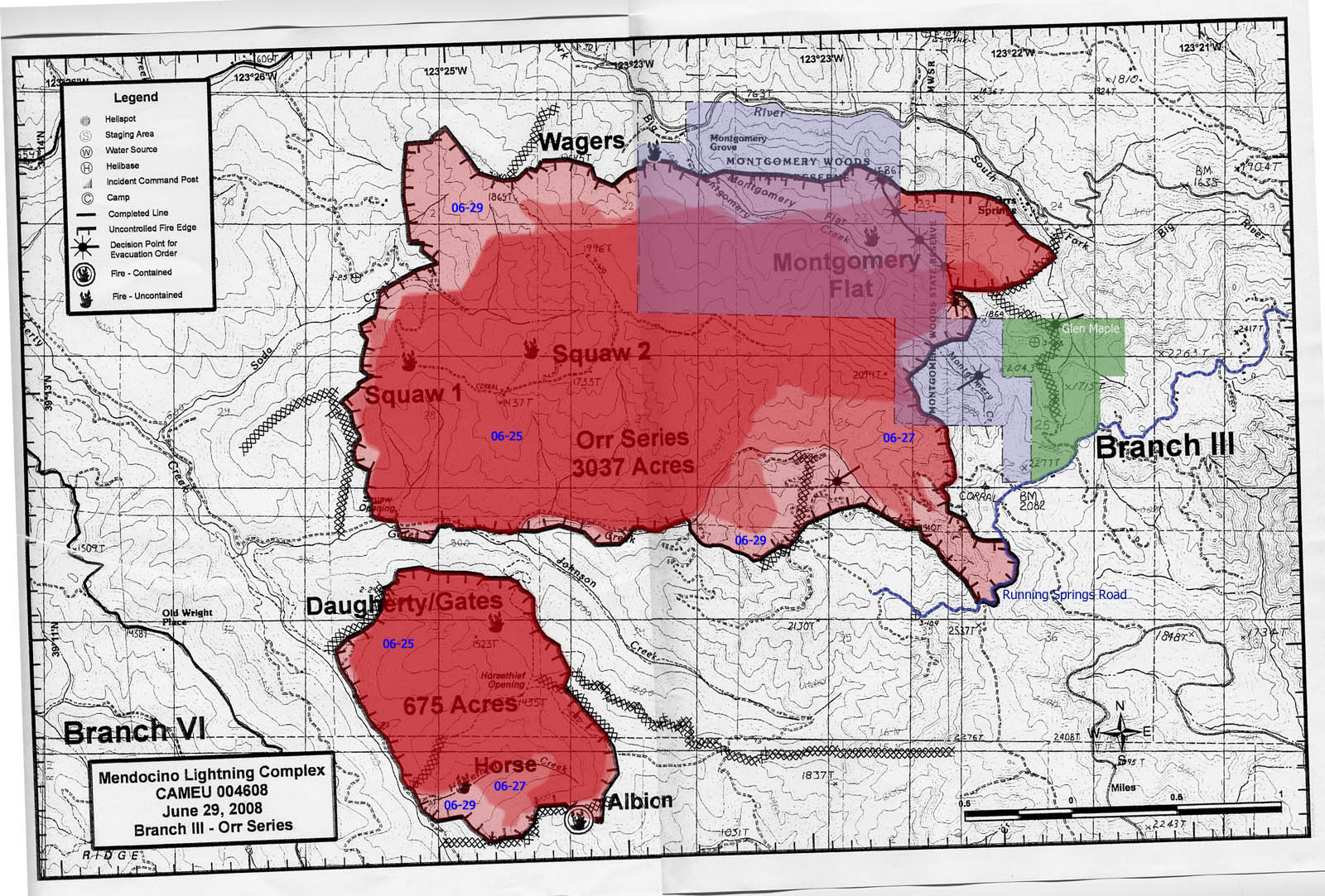 Maps Of 2008 Orr Series Montgomery Woods Fire Mendocino County